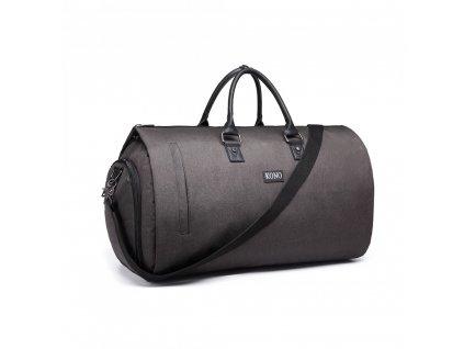 Cestovní skládací taška na oblek - šedá