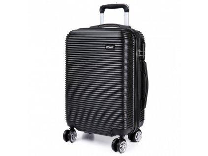 Kabinové zavazadlo na kolečkách Stripe - černá