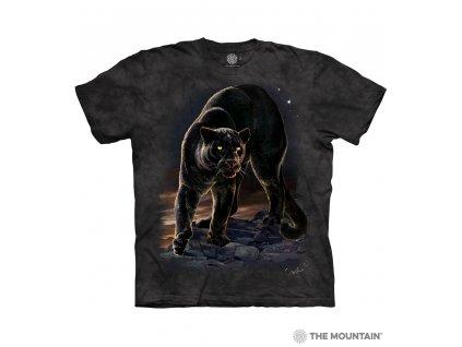 Tričko Černý Panter Na Skále