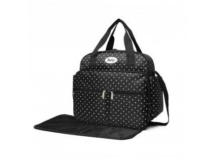 Přebalovací taška puntíkatá - černá