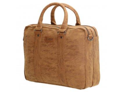 Pánská byznys taška na notebook Enrico Benetti - hnědá