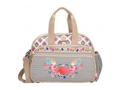 Luxusní přebalovací taška MELLI MELLO - Beige Multi