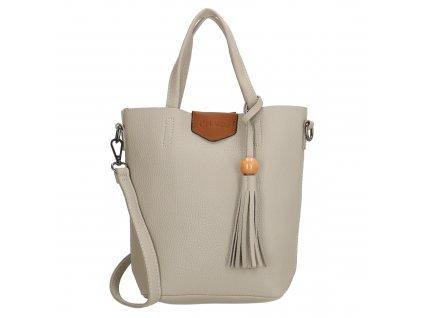 Stylová kabelka Charm s třásní - šedá