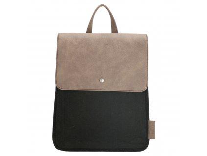 Filcový batoh na záda - Beagles - černý