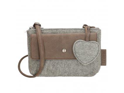 Malá filcová taška přes rameno Beagles - šedá