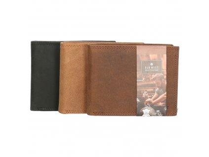 Pánská peněženka z pravé kůže Old West - ve třech barvách