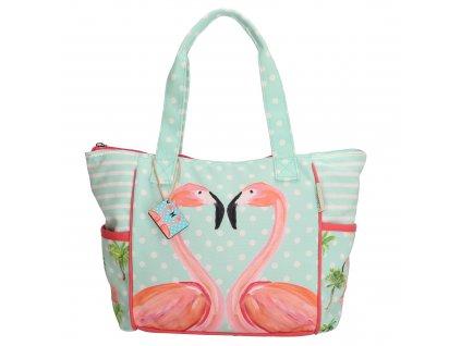 Dámská taška na rameno - Plameňák mint - Pe Florence