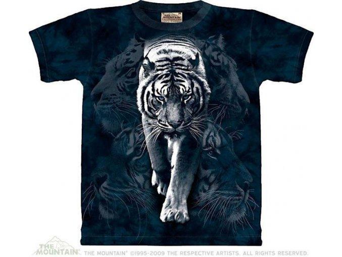 Tričko Koláž bílého tygra - Dětské