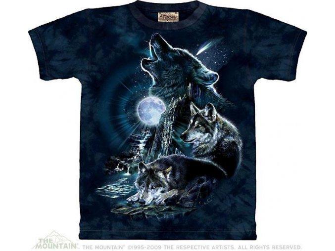 Tričko Vlci vyjící na měsíc