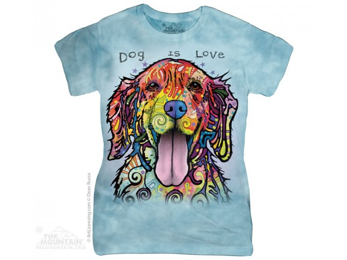 Dámské Tričko - Pes je láska - Dean Russo