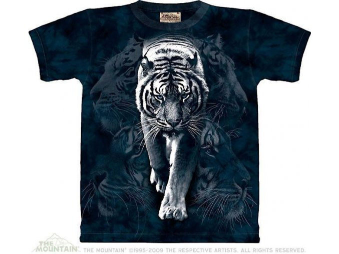 Tričko Koláž bílého tygra