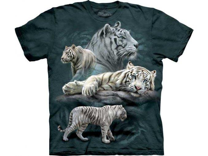 Tričko Odpočívající bílý tygr - 2017