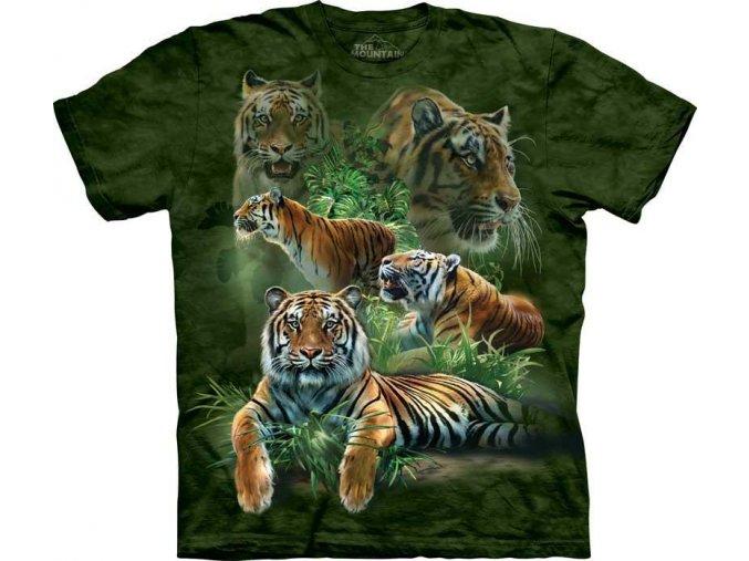 Tričko Koláž tygra - Dětské
