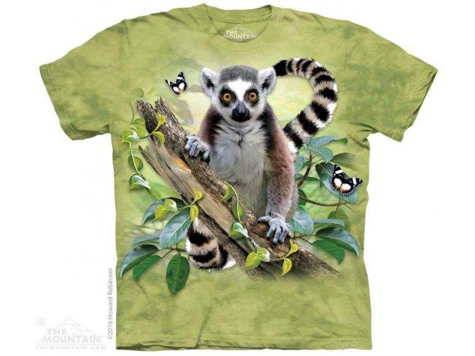 Dětské Tričko s Lemurem a Motýlkama