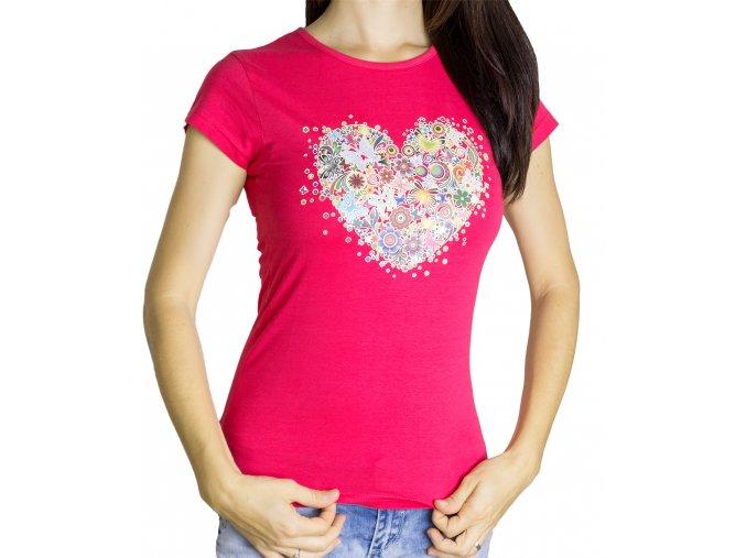 Dámské Tričko Srdce a Motýli