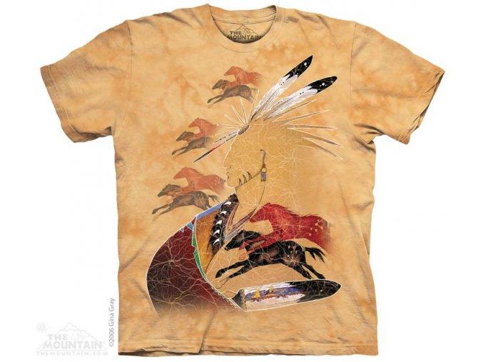 Tričko Indiánské domorodé umění koně - 2017