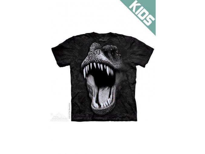 Tričko s potiskem svítící rex - Dětské