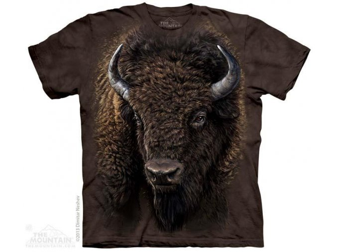 Tričko s potiskem americký bizon