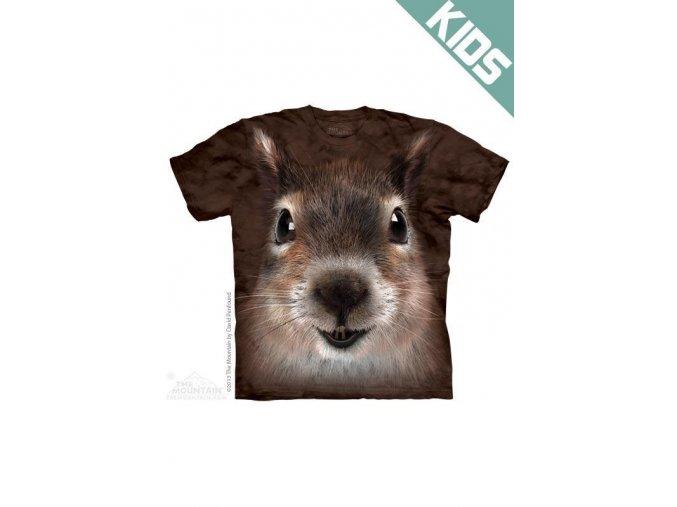 Tričko s potiskem veverky - Dětské