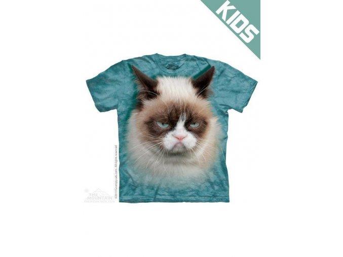 Tričko s potiskem nevrlý kocour - Dětské