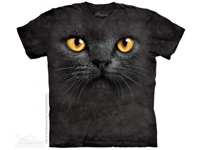 Tričko s potiskem tvář černá kočka