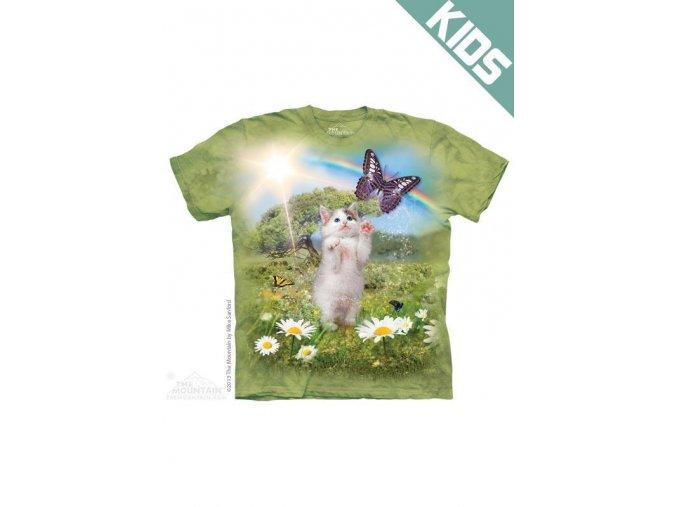 Tričko s potiskem kočičí země snů - Dětské