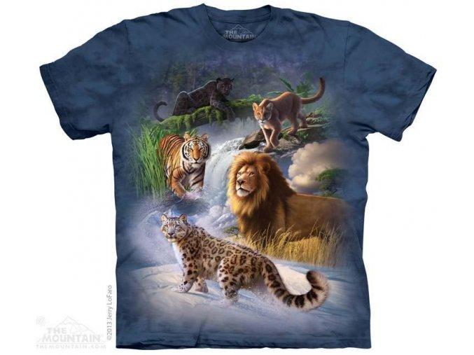 Tričko s potiskem skupina velkých koček - 2017