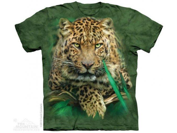 Tričko s potiskem majestátní leopard