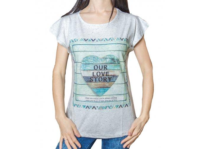 Dámské tričko s potiskem - Srdíčko