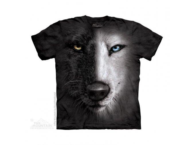 Tričko Black & White Vlk