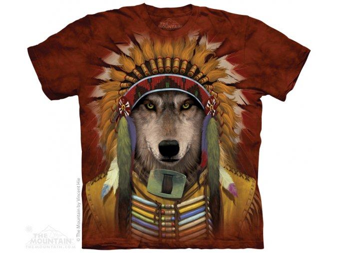 Tričko Indiánský vlk