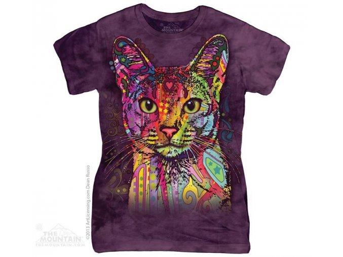 Tričko Barevná kočička - Dámské