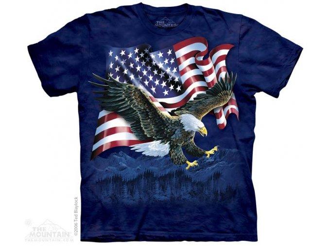 Tričko Orel s americkou vlajkou