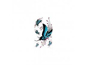 Barevné Tetování 3D Motýl AQ025