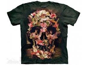 Tričko Lebka s přírodou