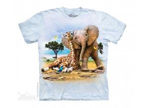 Tričko Slon a Žirafa - Dětské