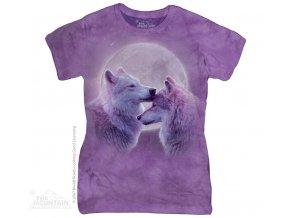Dámské Tričko Milující Vlci