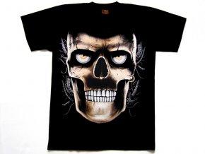 Motorkářské Tričko Skull