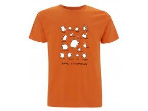 Tričko Bobky Australských Ptáků Oranžové
