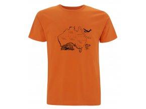 Tričko Austrálie Mapa Oranžové