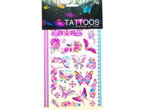 Dočasné Tetování Motýli Barevní