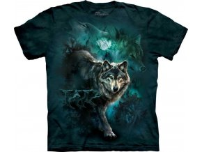 Tričko Vlci v noci