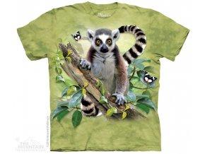Tričko s Lemurem a Motýlkama