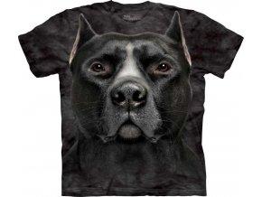 Tričko Černý PitBull Psí Tvář