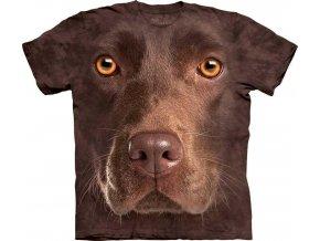Tričko Čokoládový Labrador Psí Tvář – Dětské