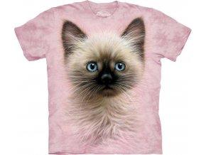 Tričko Tvář Černo Světlého Koťátka - Dětské