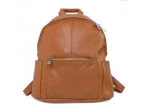 Dámský batoh s třemi kapsami - hnědý