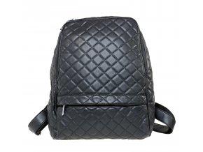Prošívaný dámský batoh - černý