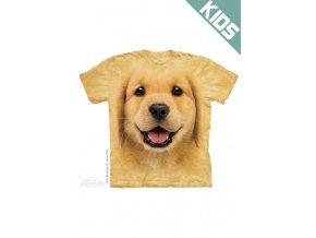 Tričko s potiskem štěnátka zlatého retrívra - Dětské
