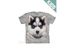 Tričko s potiskem štěnátka sibiřský Husky - Dětské